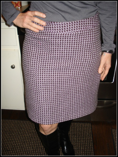 houndstooth skirt front