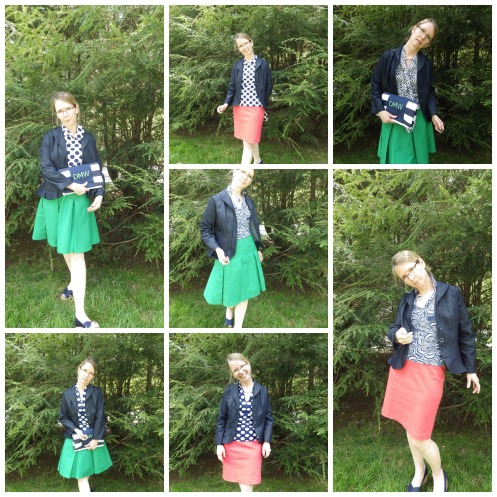 the skirts with jackets