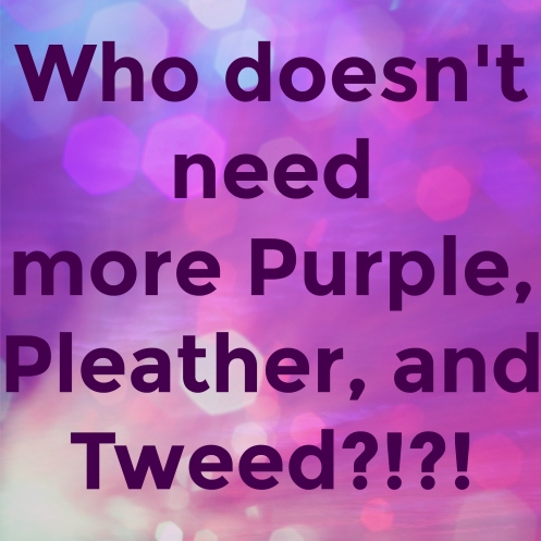 Purple Pleather Tweed